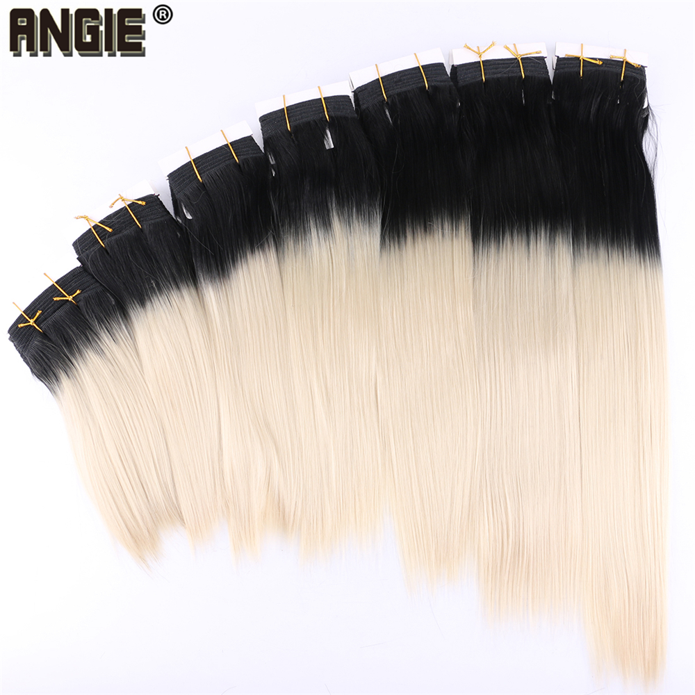 T1B/613  Synthetic Hair Bundles Double Drown Weft Extensions 100 Gram/piece Ombre Hair Weaving