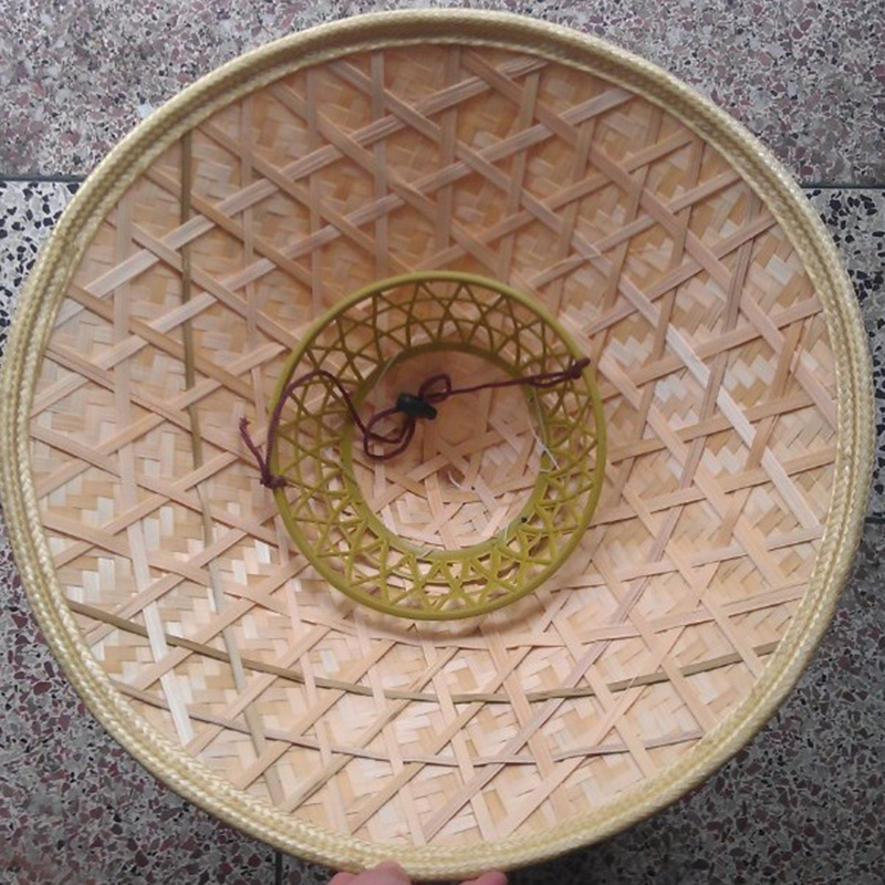Durable Coolie Straw Bamboo Cone Sun Hat Garden Farmer Fishing Stage Performance