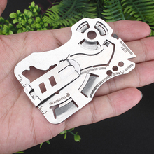Creative wolf head Fly-Off multi-function combination tool 440 stainless steel wallet card knife EDC portable pocket tools 1PCS стоимость