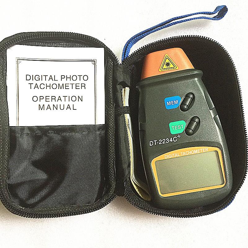 DT-2234C+ digital photo tachometer digital engine tachometer digital speedometer Digital Laser Photo Tachometer Non Contact Tach 4