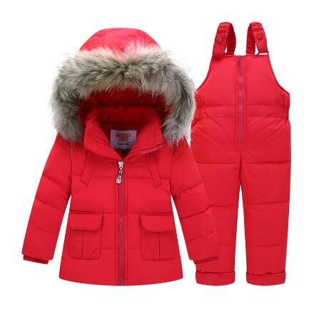 b60119688 Children Winter Suits 2-4Years Boys Girls Ski Suit Kids Clothing Set ...