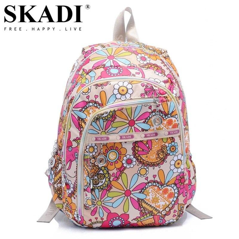 SKADI Cartoon Mermaid Flower School Women font b Backpack b font For Teenager font b Kid