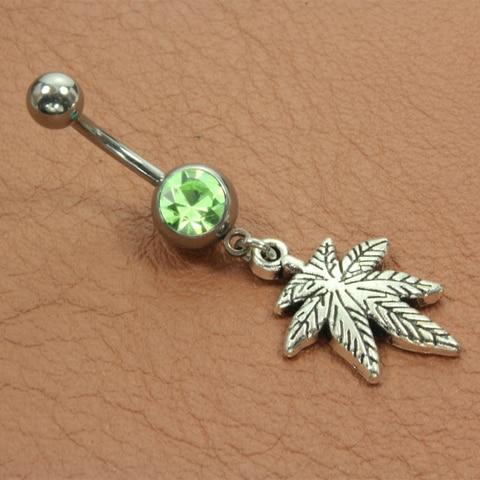 1 шт летний пирсинг пупка модный винтажный кулон Листья Кольцо