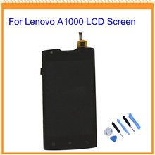 100% Guarantee Tested New lcd for Lenovo A1000 lcd Display with Touch Screen Digitizer Assembly + Tools Free Shipping