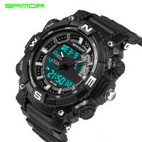 Relogio Masculino Sanda Men Sports Watches Waterproof Fashion Casual Quartz Watch Digital S Shock Military Sports