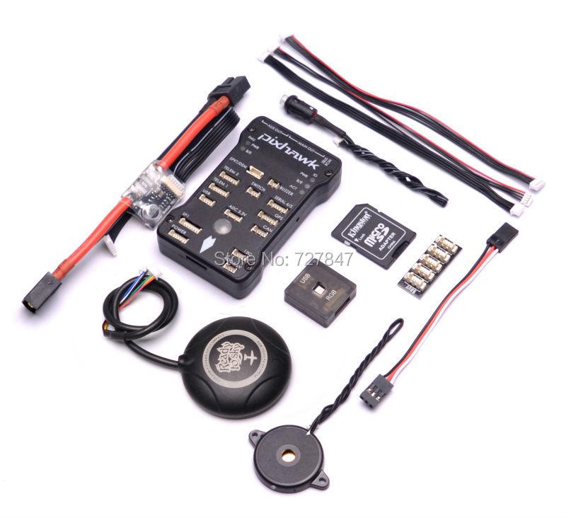 PIX 2.4.8 32 Bit Flight Controller Safety Switch Buzzer 16G SD w/ Ublox M8N GPS built in Compass / RGB / I2C / Power Module ublox m8n gps compatible with dji naza lite v1 v2 flight controller phantom 1 2 vision
