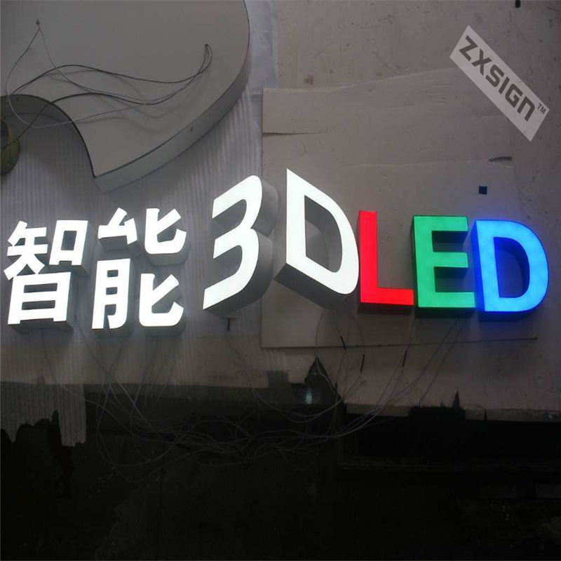 Factory Outlet Outdoor Brightest Resin Inside Stainless Steel Side & Back Led Signboard