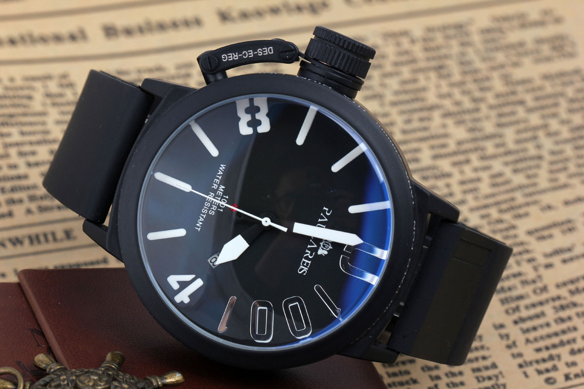 online get cheap left handed watches men aliexpress com alibaba men luxury black or silver stainless steel automat