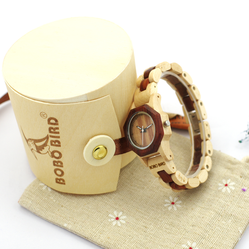 2017 Luxury BOBO BIRD Brand 35mm Women Watch Wood Wristwatches with Wooden Band Female Clock