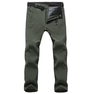 Image 3 - Winter Pants Men Outwear Soft Shell Fleece Thermal Trousers Mens Casual Autumn Thick Stretch Waterproof Military Tactical Pants