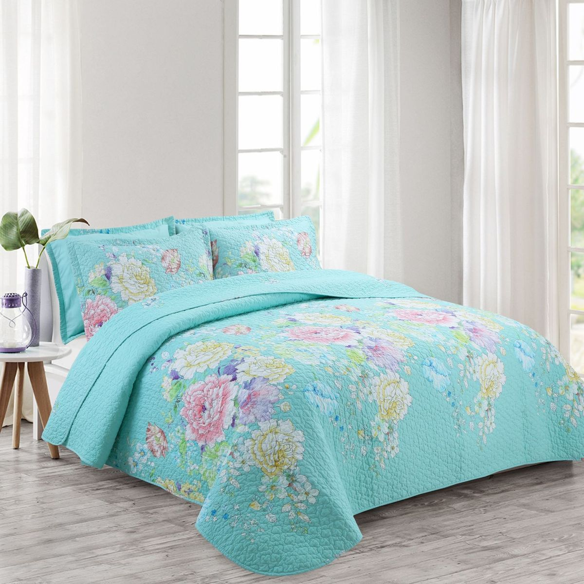 11 Colors DeMissir Flowers Print Quilt Set Cotton Summer Thin Air Condition Comforter bedding sets Bed Cover Blanket Bedspread