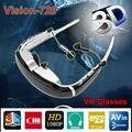 """Бесплатная доставка! Vision-720 8 ГБ 68 """"3D 2D 1080 P AV-IN FPV Игры Видео Очки для ТВ-BOX/PSP/PS3"""