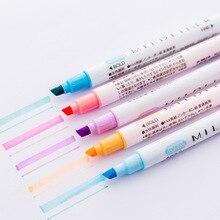Маркер-маркер для школьников, подарок для детей, цветные ручки для рисования, канцелярские принадлежности,, ручка для маркировки, двойная головка, многофункциональная