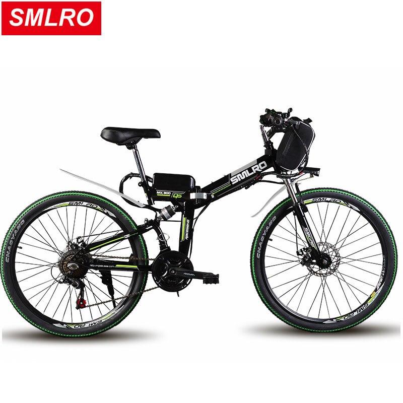24/26 polegadas bicicleta de montanha elétrica 48 v bateria de lítio 500 w de alta velocidade do motor ebike poderosa folding quadro Híbrido Viajar