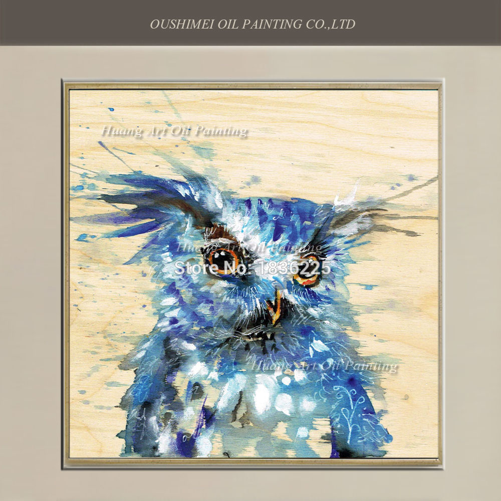 online shop handmade owl painting abstract flamingos oil painting