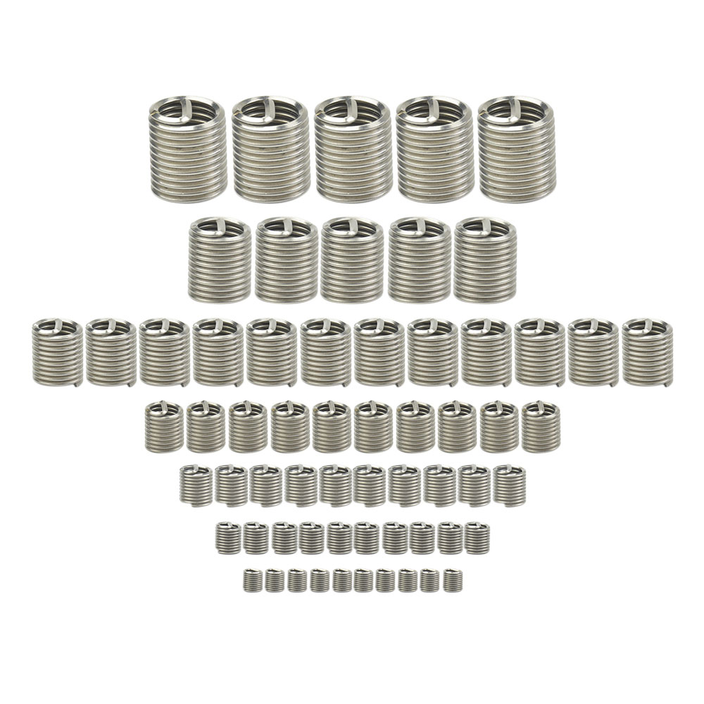 100pcs Wire Thread Insert M6*1.0*2D 304 stainless steel wire braces ...