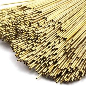 12 Raw Brass Himmeli DIY Tube Beads. Geometric Shapes 2x(125mm--300mm)(China)