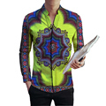 African Dashiki Shirts Mens Tops Long Sleeve Men Colourful  African Print Clothes Personal Custom Fashion Africa Clothing