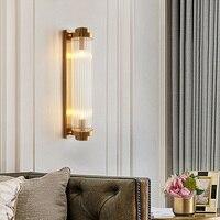 Современный блеск Хрустальный Полюс светодиодный настенный светильник Гостиная золотая металлическая спальня светодиодные Настенные све