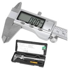 150mm 6″ LCD Digital Vernier Caliper Electronic Gauge Micrometer Precision Tool Silver
