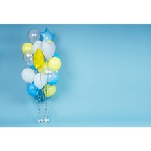Laeacco Colorful Balloons Bunch Seamless Baby Shower Cartoon Scene Photography Background Photographic Backdrop For Photo Studio