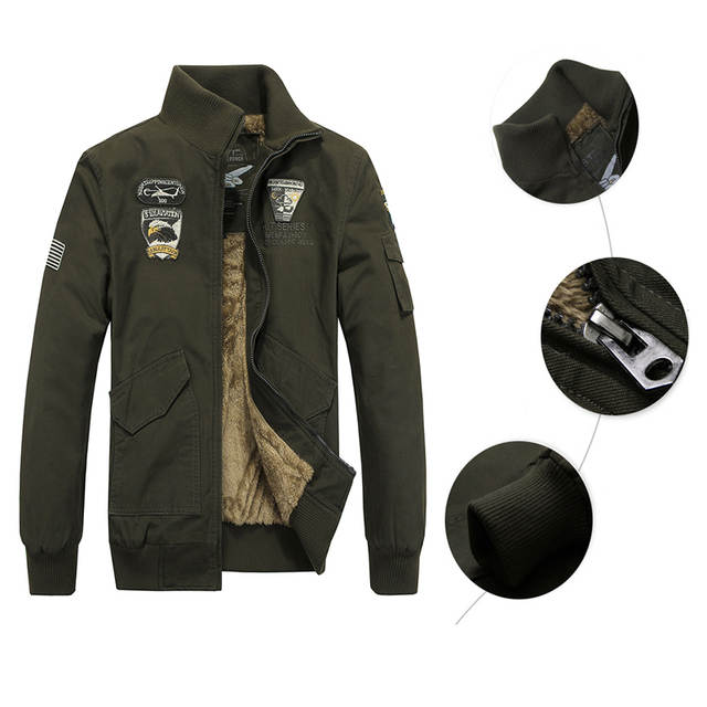 c2b01b5dd6dcf Special Agent Air Force One Mens Military Tactical Warm Jacket Overcoat  Tough Man Army Clothes Windproof