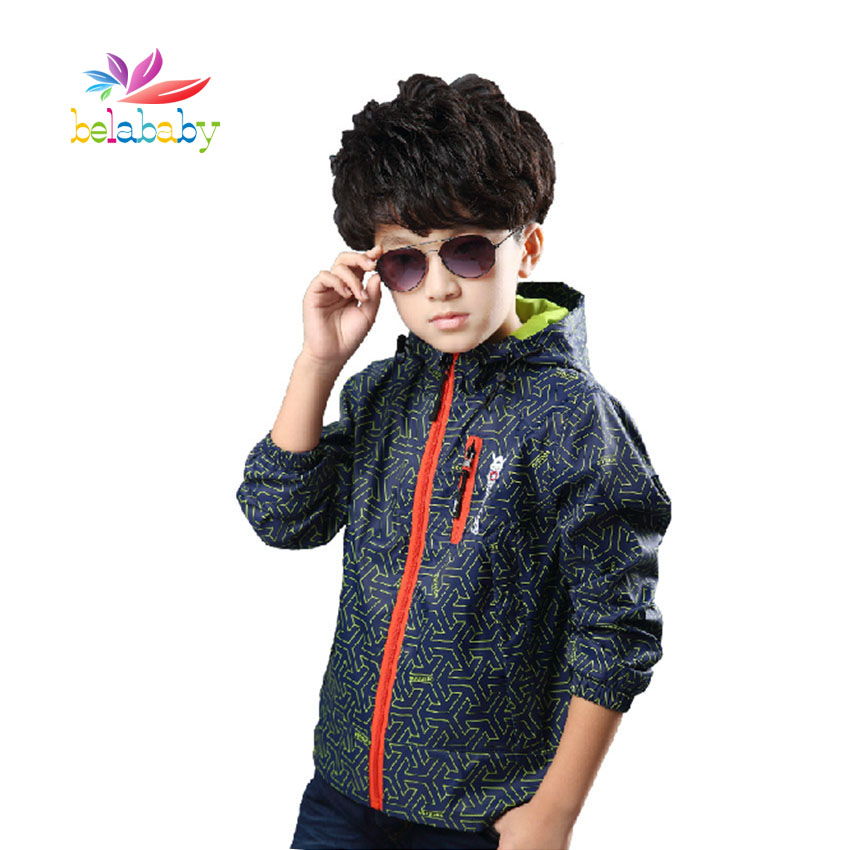 Belababy 2017 Children Jackets Spring Summer Children Outerwear Coat Sports Kids Clothes Waterproof Windbreaker Boys Tops ...