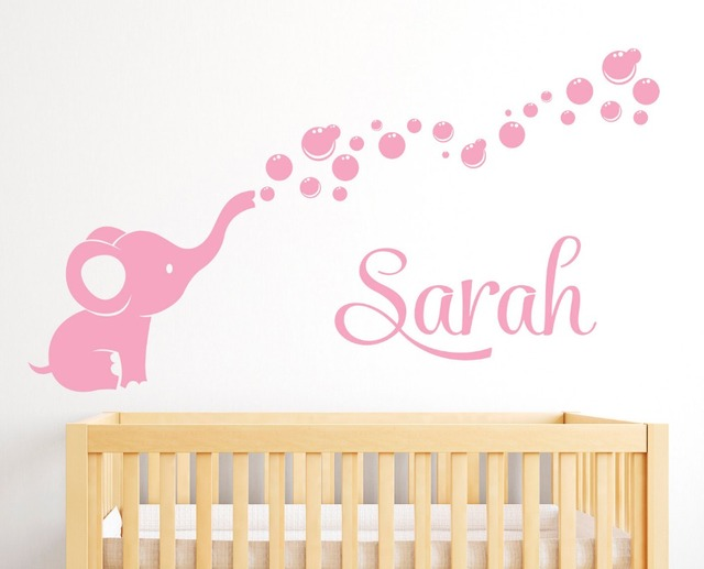 Soft Pink Vinyl Wall Decals For S Boys Bedroom Baby Nursery Art Sticker Names Personalized