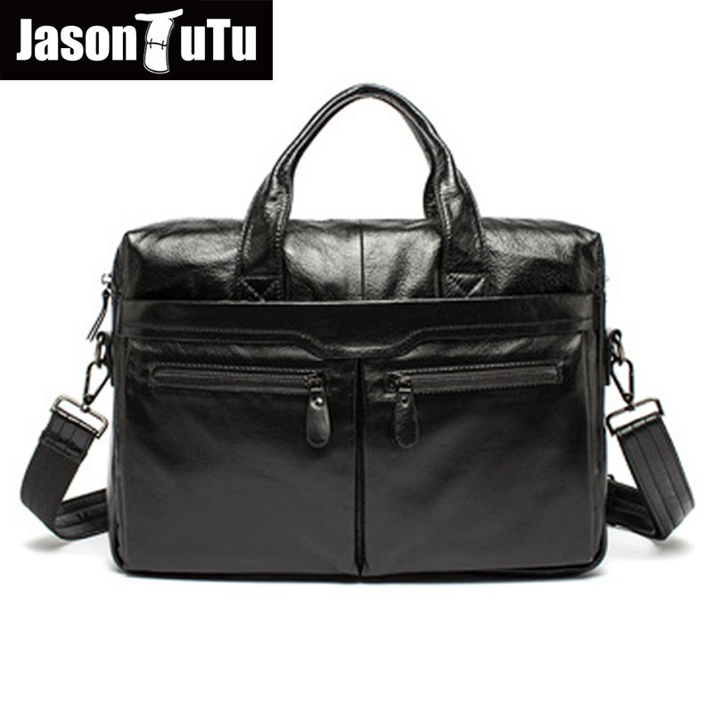 JASON TUTU messenger bag men leather handbag Vintage bag Genuine Leather Business Briefcase Casual Tote bag HN124 jason tutu genuine leather crossbody bag top quality vintage soft skin small bag 2017 casual men messenger bags hn241