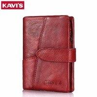 KAVIS Luxury Brand Wallet Female Coin Purse Genuine Leather Women Portomonee And Walet Rfid Pocket Perse