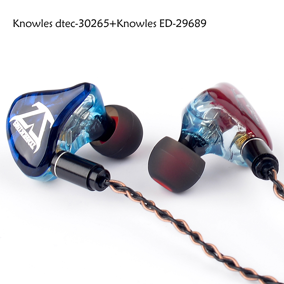 TONEKING T3 3BA fait sur commande bricolage dans l'oreille écouteur 3 Armature équilibrée HIFI moniteur écouteurs MMCX 8-Core cuivre argent câble mixte - 5