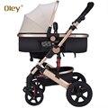 Oley carrinho de bebê amortecedores carro bb bebê criança luz dobrável carro impulso bebê