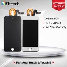 5 UNIDS/LOTE Original LCD de grado AAA para el ipod touch 5/6 Pantalla LCD de Pantalla Táctil de Cristal Digitalizador Asamblea Libre de DHL gratis