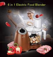 6 ב 1 בלנדר מזון חשמלי/2L אוטומטית מכונה ערבוב בשר/שום חיתוך מכונה/ביתי Processer מזון G113