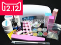 EM-77 Professional Full Set UV Gel Kit Nail Art Set + 9W Curing UV Lamp Dryer Curining  FREE SHIPPING