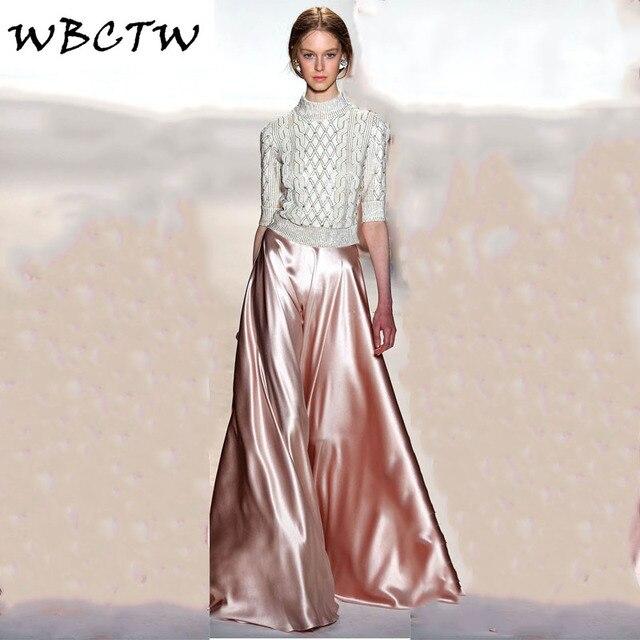 1372bd963ff0d WBCTW Party Trousers Long Wedding Party Pants High Quality Ladies Pants  Stain 7XL Plus Size Women s Pants Wide Leg