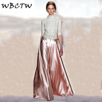 WBCTW Party Trousers Long Wedding Party Pants High Quality Ladies Pants Stain 7XL Plus Size Women's Pants Wide Leg