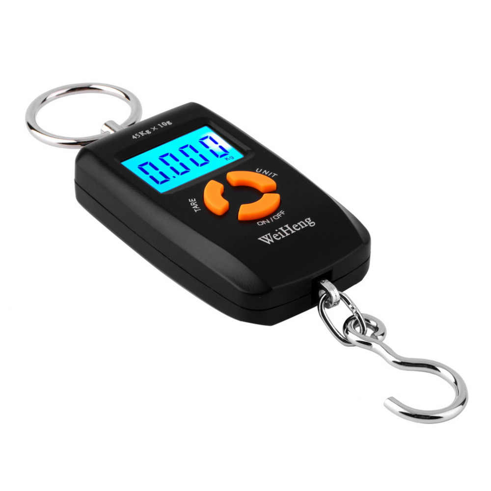 WH-A05L LCD Portable Digital Electronic Scale Pocket 45kg/10g Luggage Hanging Fishing Hook Balance Scale Electronic lb oz kg Hot