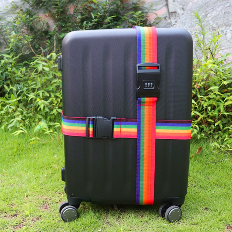 4 x NEW ADJUSTABLE LUGGAGE BELT SUITCASE STRAPS BAGGAGE DOWN TRAVEL WITH TAG