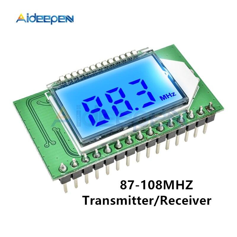 87-108MHZ PLL LCD affichage numérique FM Radio émetteur/récepteur Module sans fil Microphone stéréo carte numérique réduction du bruit