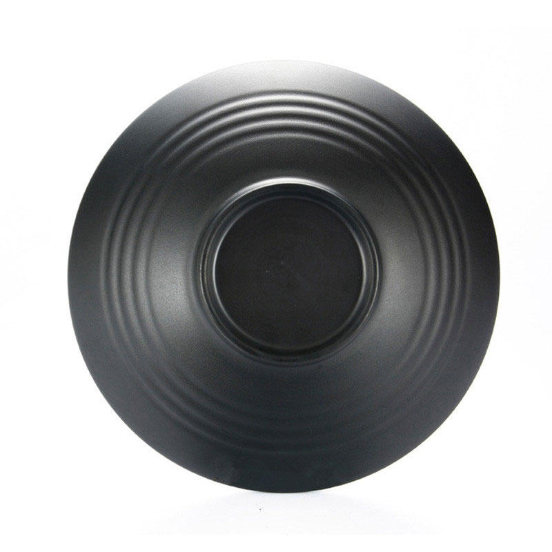 Yilala Plastic Bowl Unbreakable Melamine Dishes Black Color Tableware 8 Inch 9 Inch 10 Inch Soup Dish Creative Bowls for Noodle