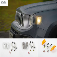 Free shipping one set for 2016 2017 JEEP Renegade ABS Chrome Car Accessories LED Fender Lamp LED TURN SIGNAL LAMP