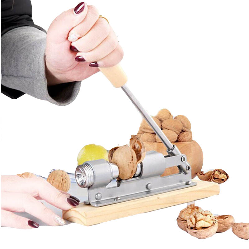 Aluminum Kitchen Quick Tool Cracker Walnut Nutcracker Sheller Plier Nut  GZM