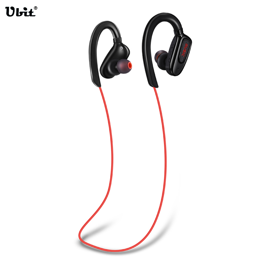 Ubit S5 Sports Ear-hook Wireless Bluetooth Earphone Stereo Music Earbuds Headset Bass headphones with Mic for iPhoneX SmartPhone