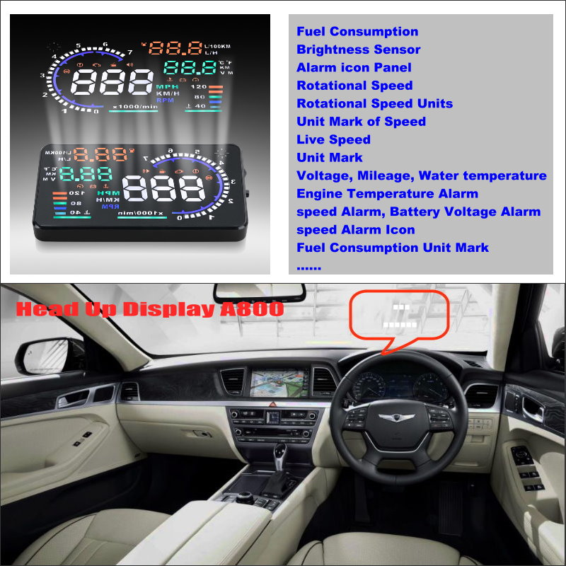For Hyundai Genesis 2015 2016 - Car HUD Head Up Display  Saft Driving Screen Projector Refkecting Windshield
