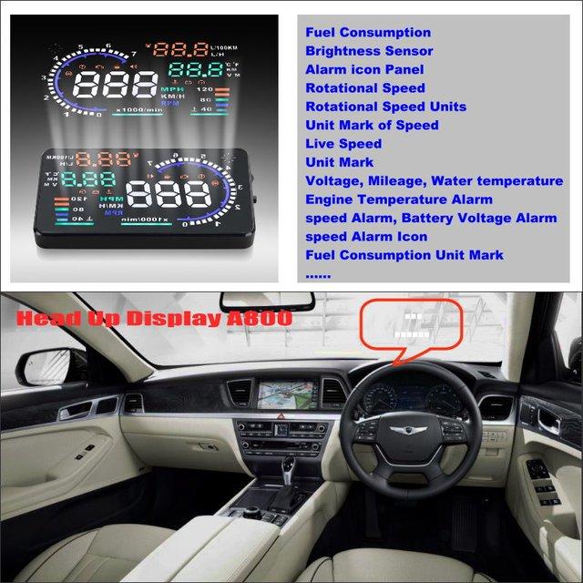 Car HUD Safe Drive Display For Hyundai Genesis 2015 2016