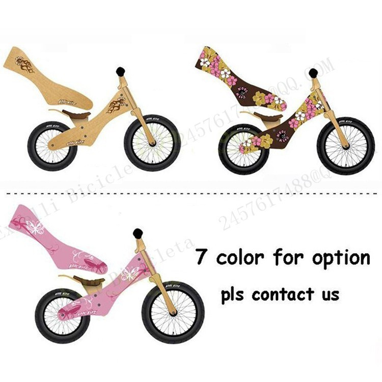 b04-Baby two wheels Wood Balance Bike for 2-6 Years age Bicicleta Infantil Balance Bike Kid's bicycle Common Childen's Cycling