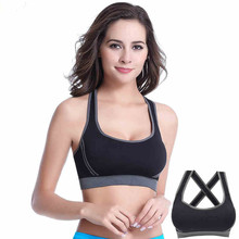 Screaming quality Women Yoga Vest Seamless Fitness Sports Bra Tops Gym Underwear Bras