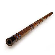 Черная линия китайский традиционный музыкальный инструмент ручной работы бамбуковая флейта