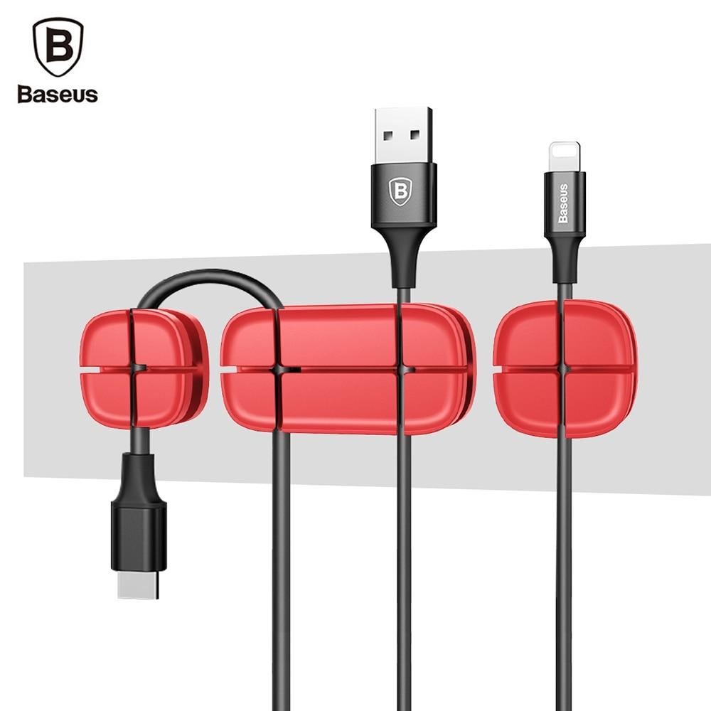 Baseus Kreuz Pea Kabel Clip Wickler Flexible Silikon USB Cable ...